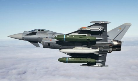 Typhoon begins flight tests with Taurus KEPD 350 missiles. Airbus Defence (Eurofighter)