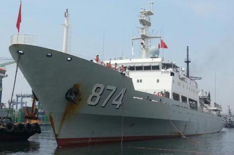 Kapal Perang Angkatan Laut China Deng Jiaxian-874. [SINDOnews]