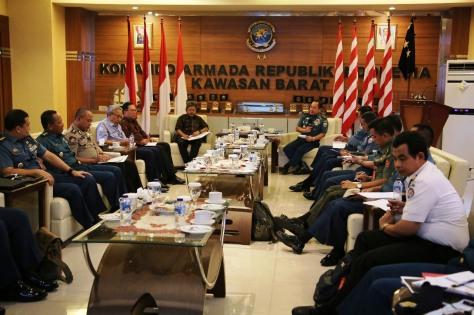 Koarmabar Gelar Rapat Terbatas Bahas Situasi di Perbatasan Laut Indonesia dengan Vietnam. (Pen Koarmabar)
