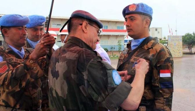 200 Prajurit TNI Terima Penghargaan PBB di Afrika Tengah
