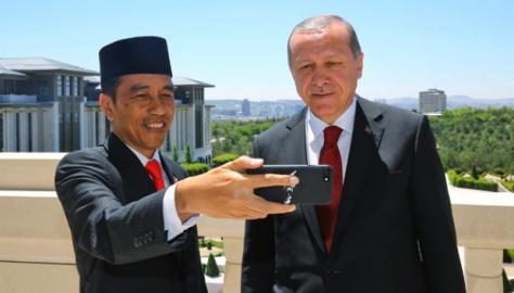 Presiden Joko Widodo dan Recep Tayyip Erdogan (Tempo)