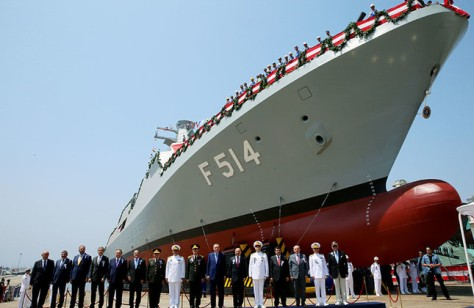 Turkey launches fourth corvette built as partof national ship project. (Daily Sabah)