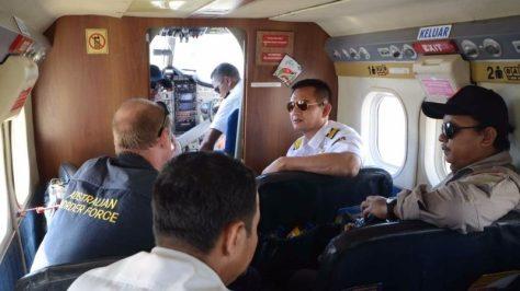 Bakamla RI Bersama ABF Gelar Operasi Udara Maritim