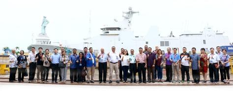 eneliti dan Militer Negara-negara ASEAN yang tergabung dalam Network of Asean Defence and Security Institution (NADI) berkunjung ke PT PAL INDONESIA (Persero) Kamis Pagi (2707).