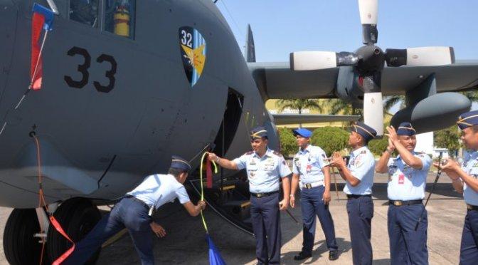 Hercules C-130 Terbaru Milik TNI AU Tiba di Malang