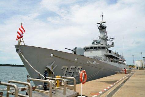 KRI Usman Harun (USH)-359 di Muara Naval Base
