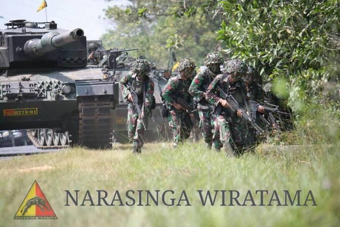 Ribuan Personel TNI AD Latihan Perang di Baturaja