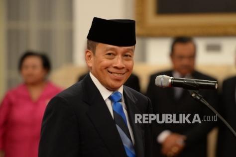 Letnan Jenderal (Purn) TNI Agus Widjojo sesaat sebelum pelantikan menjadi Gubernur Lembaga Ketahanan Nasional