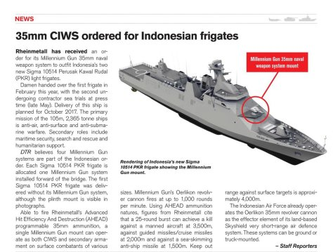 Order CIWS 35mm untuk Fregat Indonesia (DTR)