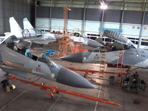 Su-27 TS-2701 dan TS-2702 Tiba di Lanud Hasanuddin Juli Agustus 2017. (IMF)