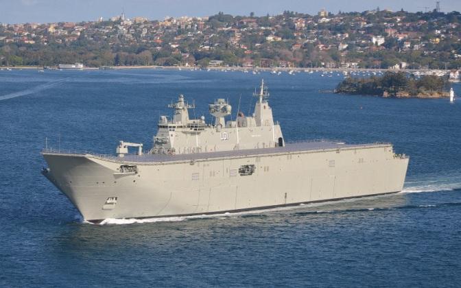 Kapal Perang AL Australia Kunjungi Lantamal III
