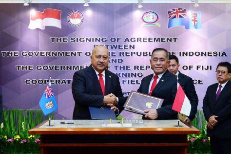 Indonesia dan Fiji Sepakati Perjanjian Kerja Sama di Bidang Pertahanan