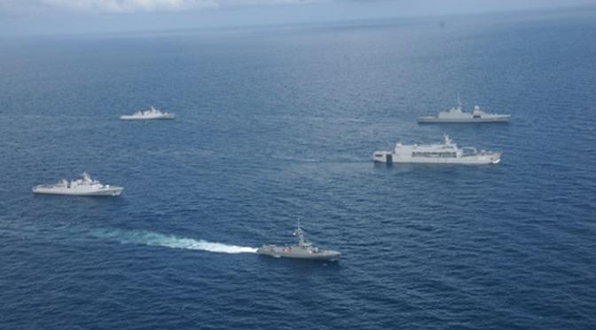 Tiga Kapal Perang Kolinlamil Dukung HUT TNI ke-72