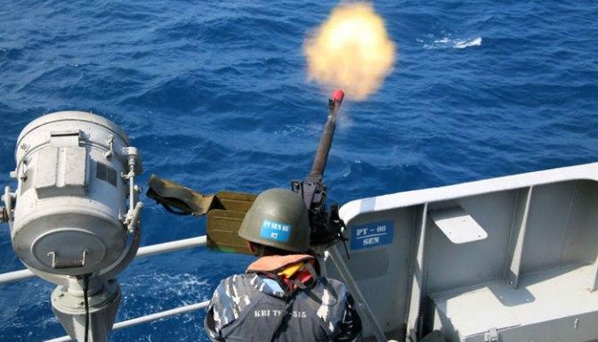 Koarmatim Gelar Latihan Manlap Glagaspur di Laut Jawa