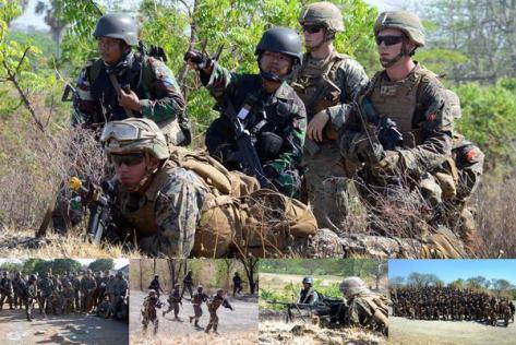 Marinir Indonesia – Amerika Bombardir Karangtekok