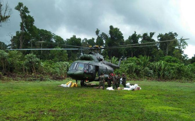 Penerbad Bantu Dorongan Logistik Udara Satgas Yonif Para Raider 432 Kostrad