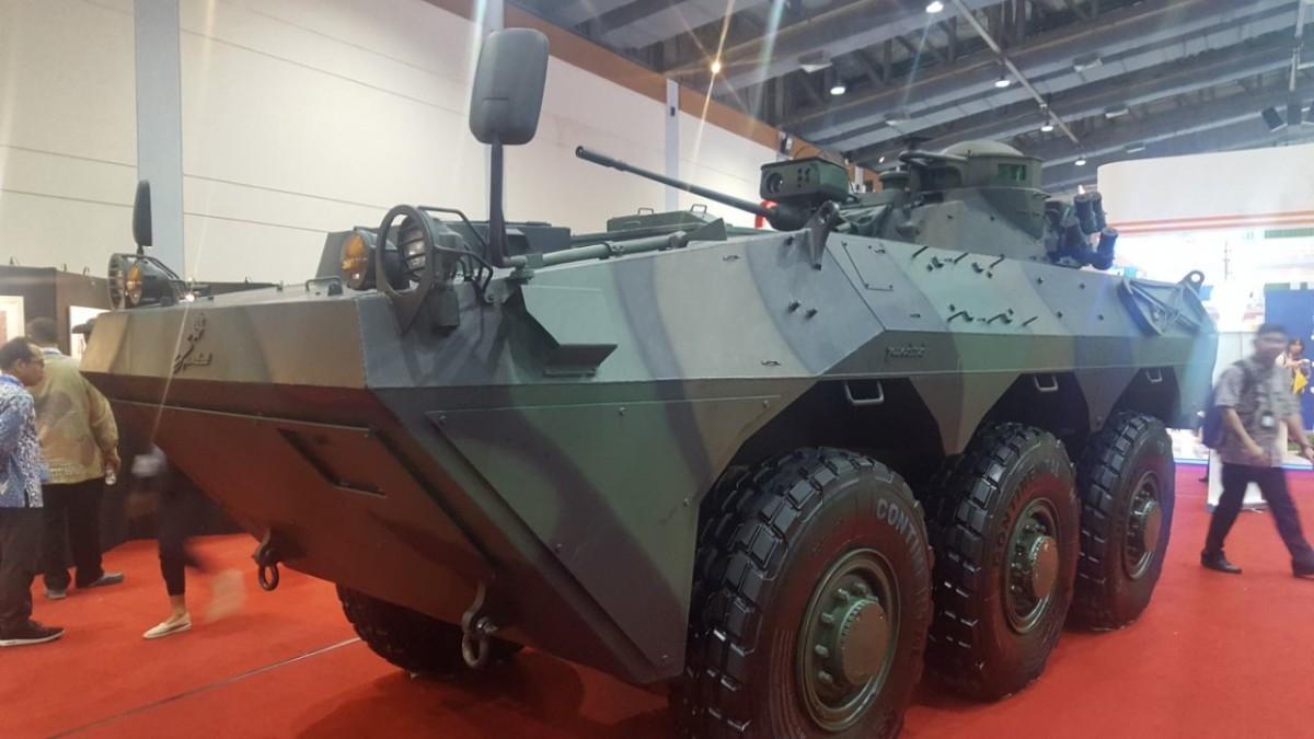 Wujud baru Panser kanon 20 mm PT Pindad