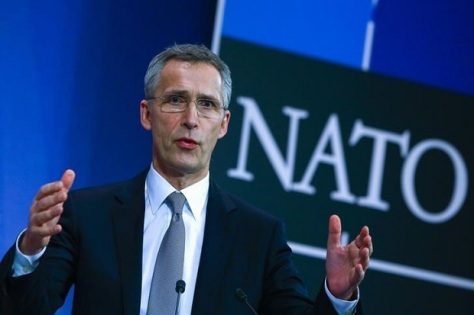 NATO Secretary General Stoltenberg holds a news conference during a NATO defense ministers meeting at the Alliance's headquarters in Brussels