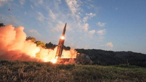 Sistem rudal Hyunmoo-2A dilaporkan mampu terbang dengan jarak tempuh sekitar 300 kilometer. (Reuters)