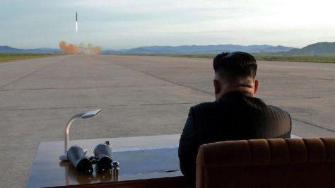 Uji coba rudal Korea Utara. (KCNA via REUTERS)