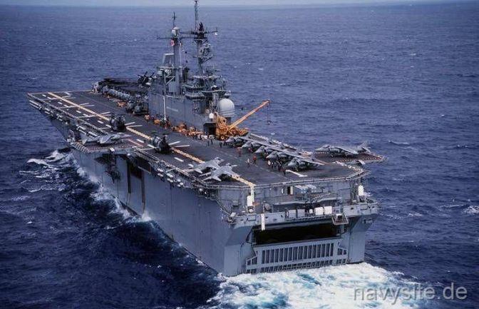 USS Wasp Sarat dengan Jet Tempur Berlayar ke Jepang
