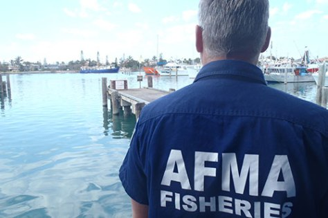 Australian Fisheries Management Authority (AFMA) officer. (AFMA)