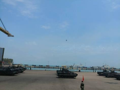 BMP 3F Marinir dalam rangka persiapan peringatan HUT TNI ke-72 tahun 2017 di Banten.