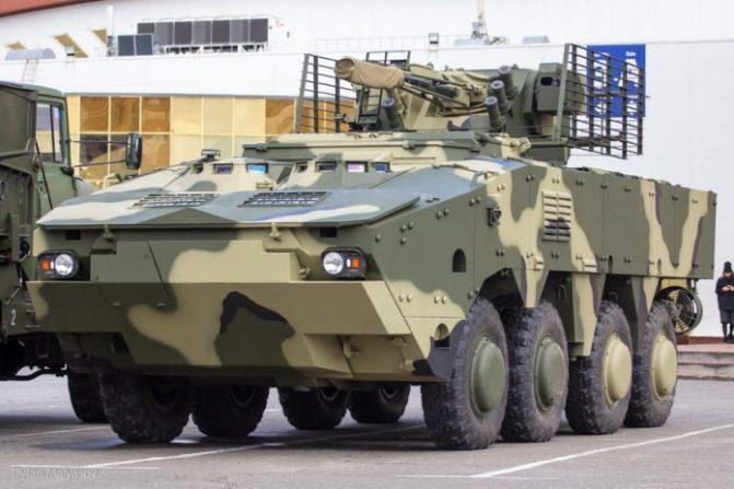 Ukraina Perkenalkan BTR-4MV1 di 'Arms and Security Exhibition'