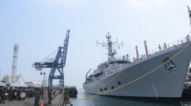 Empat Kapal Perang India Berlabuh di Jakarta