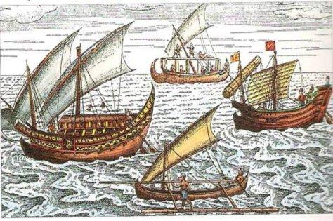 Lukisan Kapal Jung Jawa. (Istimewa)