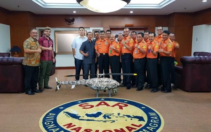 UAV Helikopter Besutan UAVOS Jajal Iklim Tropis Indonesia