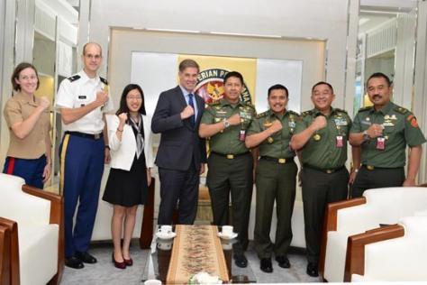 American Deputy Assistance Secretary Defence of South and Southeast Asia Dr. Joseph Felter (Joe) beserta rombongan. (Kemhan)