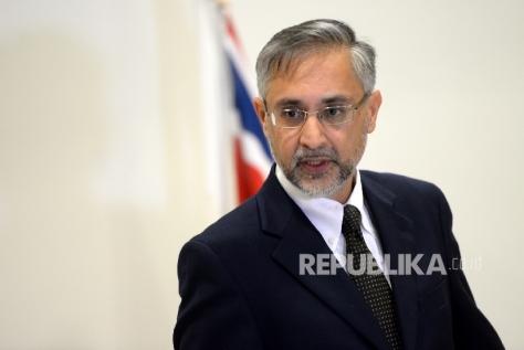 Duta Besar Inggris untuk Indonesia, Moazzam Malik. (Republika)
