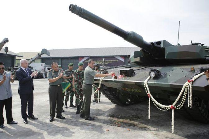 Pussenkav Gelar Syukuran Selesainya Kontrak Pengadaan Main Battle Tank