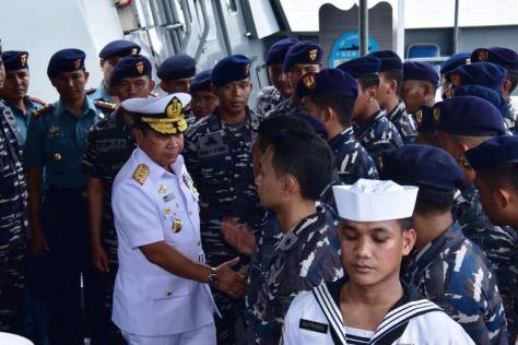 Panglima Komando Armada RI Kawasan Barat (Pangarmabar) Laksamana Muda TNI Aan Kurnia, S.Sos.,