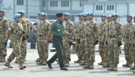 Panglima TNI Sambut Satgas MTF TNI Konga XXVIII-I (TNI)