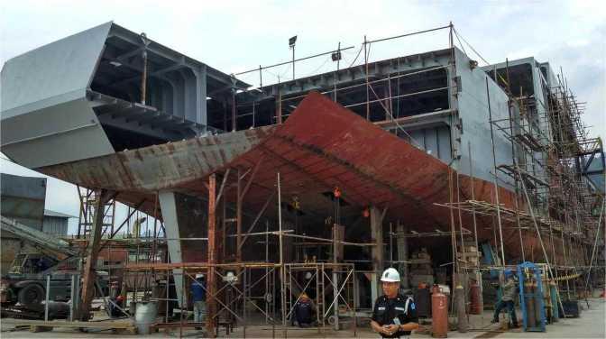 Pengerjaan Proyek Lima Unit LST Sesuai Rencana