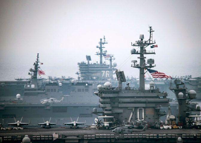 Kapal Perang Korsel Ikut Latihan dengan AS