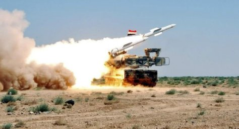 A Syrian army defense missile system (SANA)