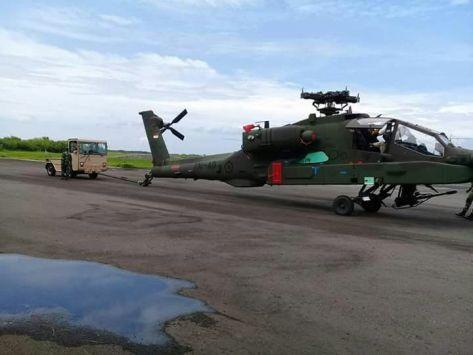 AH-64 Apache Tiba di Indonesia (18122017). (Istimewa) 1