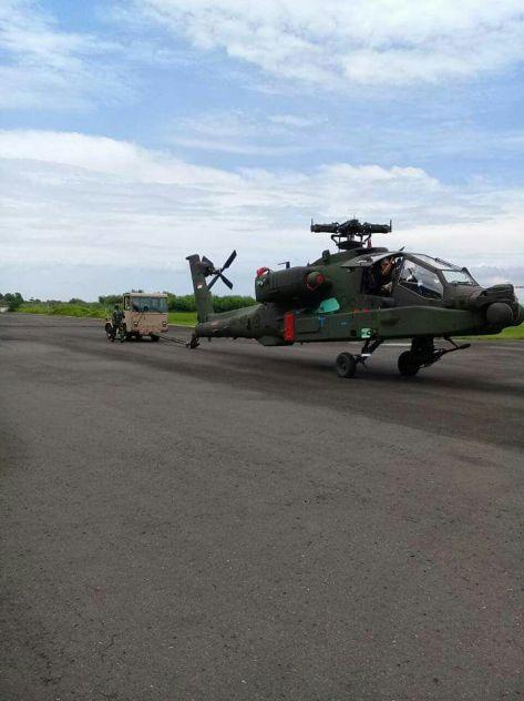 AH-64 Apache Tiba di Indonesia (18122017). (Istimewa) 2