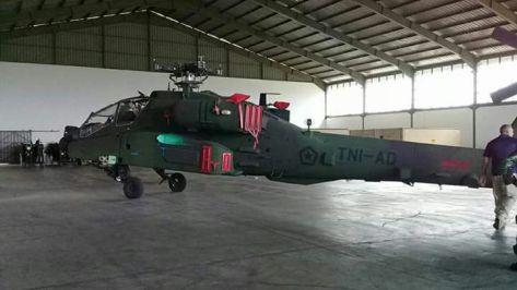 AH-64 Apache Tiba di Indonesia (18122017). (Istimewa)