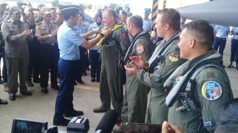 Empat Unit F-16 C dari Guam Mendarat di Lanud Iswahjudi. (Detik) 2