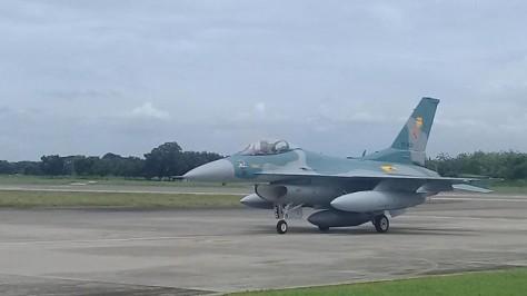 Empat Unit F-16 C dari Guam Mendarat di Lanud Iswahjudi. (Detik)