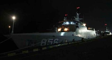 KRI Kurau-856 di Pelabuhan Cirebon (Radar Cirebon)