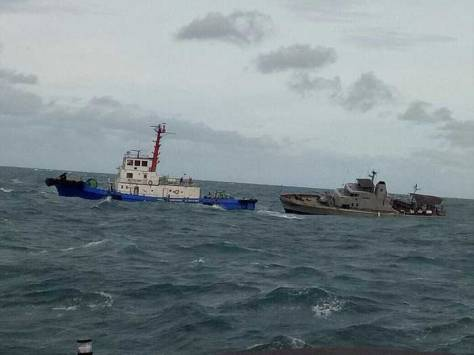 KRI Sibarau 847 Alami Insiden di Perairan Tanjung Tiram (Indomiliter)