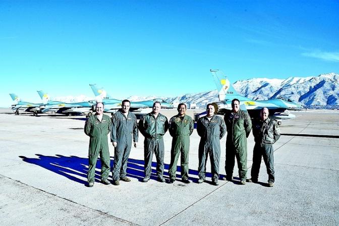 Marsma TNI Joko Takarianto Lepas Ferry Enam Pesawat F-16 dari  Hill AFB, Utah Amerika  Serikat ke Lanud Iswahyudi