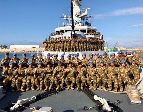 Pangarmabar Kunjungi KRI Usman Harun-359 Satgas MTF XXVIII-J UNIFIL Di Lebanon (TNI AL)