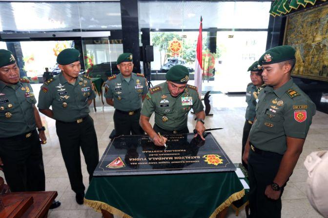 Pangkostrad Letjen TNI Edy Rahmayadi Resmikan Batalyon Mandala Yudha