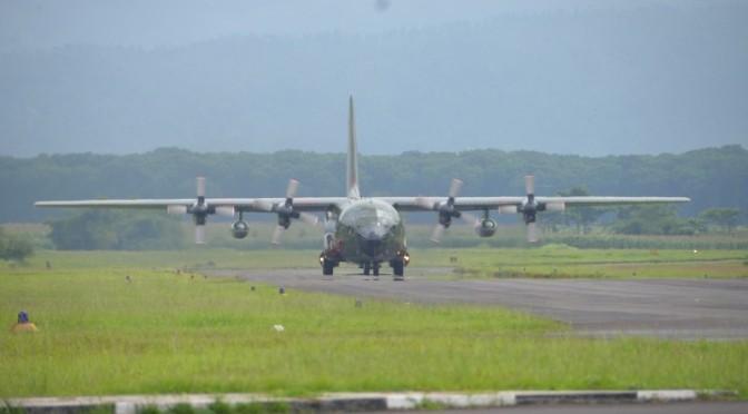Pesawat Hercules C-130 H Perkuat TNI AU